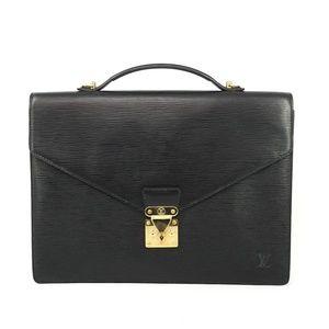 Auth Louis Vuitton Serviette Conseiller #1183L19